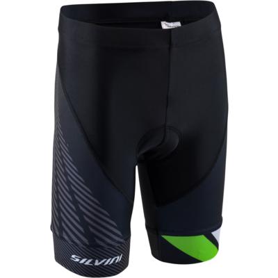 Dziecięce rowerowe spodnie Silvini Team CP1436 black/green, Silvini