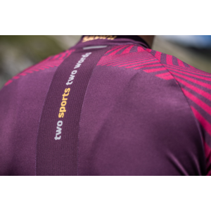 Męski rowerowy bluza Silvini Chiani MD1418 plum, Silvini
