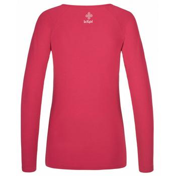 Koszulka damska długi rękaw Kilpi INA-W różowy, Kilpi