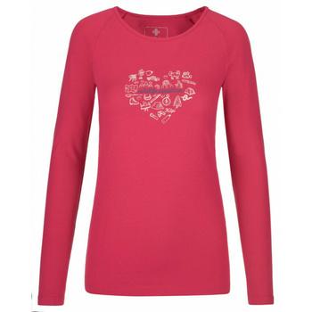 Koszulka damska długi rękaw Kilpi INA-W różowy