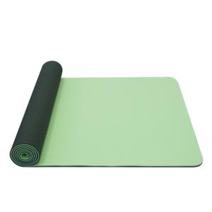 Podkładka do jogę YATE joga mat podwójna warstwa / zielony / materiał TPE, Yate