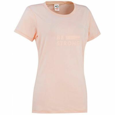 Damska stylowa koszulka z krótkim rękawem Kari Traa Tvilde 622450, różowa, Kari Traa