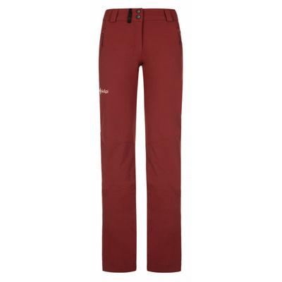 Damskie spodnie outdoorowe Kilpi DANNY-W ciemny czerwony, Kilpi