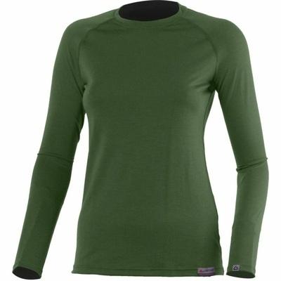 Damskie merynos koszulka Lasting Atila zielone