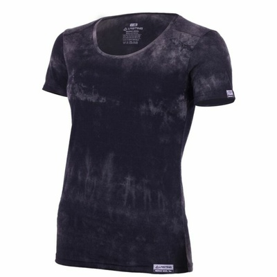 Damskie merynos koszulka Lasting BRENA-9090 czarny batik, Lasting