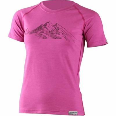 Merynos damski koszulka Lasting z prasą Hila różowy, Lasting