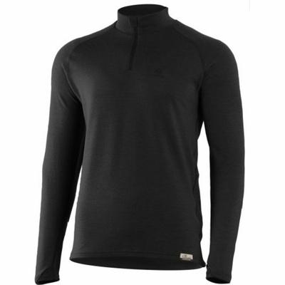 Męska bluza z merynosów Lasting WIRY-9099 czarny