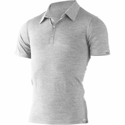 Męskie wełnianna koszulki polo Lasting ELIOT 8484 szary, Lasting