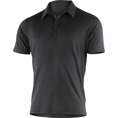 Męski merynos koszulki polo Lasting JARIS-9898 Black, Lasting