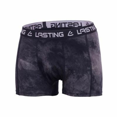 Męskie merynos bokserki Lasting BONO czarne, Lasting