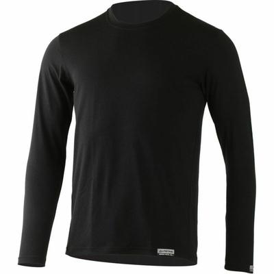 Męskie merynos koszulka Lasting Alan czarne, Lasting