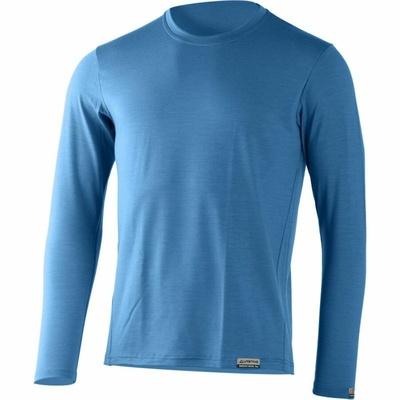 Męski merynos koszulka Lasting ALAN-5353 niebieski, Lasting