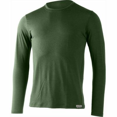 Męskie merynos koszulka Lasting Alan zielone