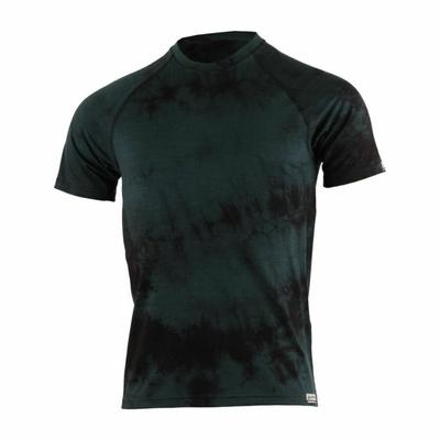 Męskie merynos koszulka Lasting Bokos czarny batik