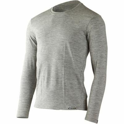 Męski merynos koszulka Lasting LOGAN-8484 szary, Lasting