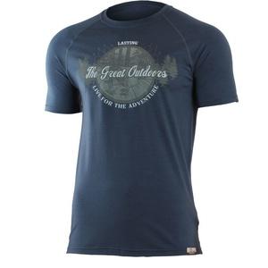 Merino koszulka Lasting LUCAS 5656 niebieskie wełniane, Lasting