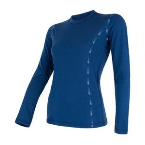 Damskie koszulka Sensor MERINO AIR ciemno niebieskie 17200014, Sensor
