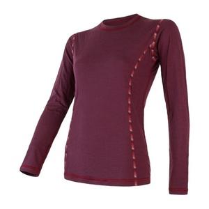 Damskie koszulka Sensor MERINO AIR ciemno. winowa 18200006, Sensor