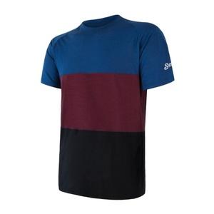 Męskie koszulka Sensor MERINO AIR PT černá/modrá/vínová 18200013, Sensor