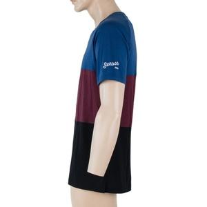 Męskie koszulka Sensor MERINO AIR PT czarny / niebieski / bordowy 18200013, Sensor