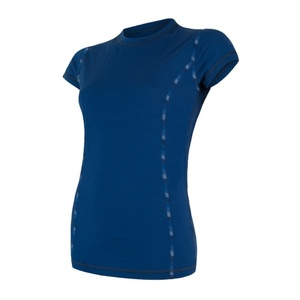 Damskie koszulka Sensor MERINO AIR ciemno niebieskie 17200012, Sensor