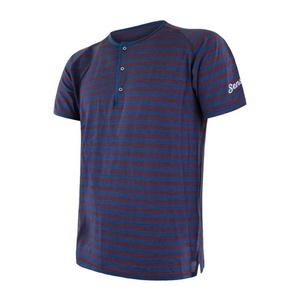 Męskie koszulka Sensor SENSOR MERINO AIR PT niebieski/bordowy 18200012, Sensor