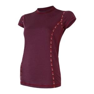 Damskie koszulka Sensor MERINO AIR ciemno. winowa 18200005, Sensor