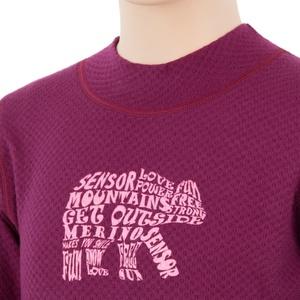 Dziecięce koszulka Sensor MERINO DOUBLE FACE BEAR lilla 17200038, Sensor