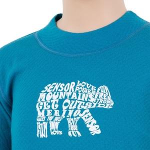 Dziecięce koszulka Sensor MERINO DOUBLE FACE BEAR niebieskie 17200037, Sensor
