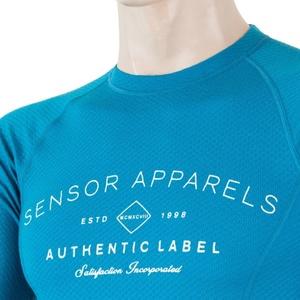 Męskie koszulka Sensor MERINO DF LABEL niebieska 18200017, Sensor