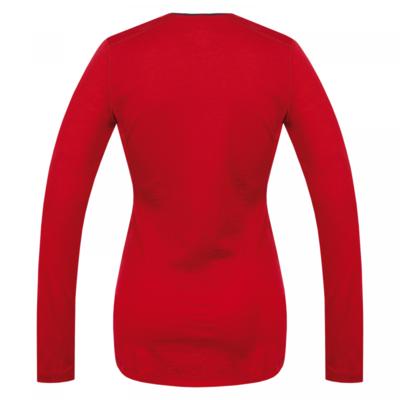 Damska koszula termiczna dl. tuleja Husky Merynos czerwony, Husky