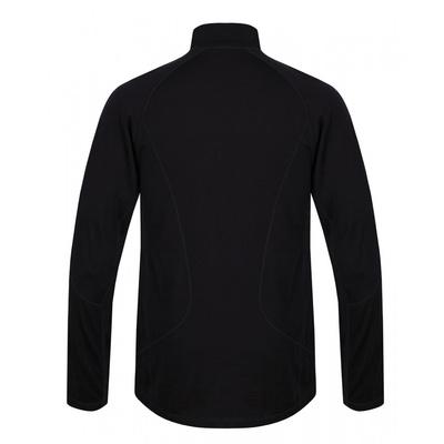 Męskie termo koszulka dl. tuleja z zamkiem błyskawicznym Husky Merino czarny, Husky