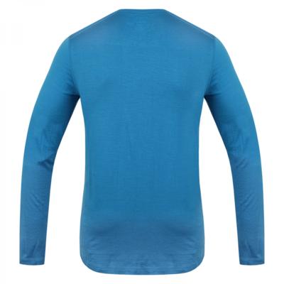 Męskie termo koszulka dl. tuleja Husky Merino niebieski, Husky