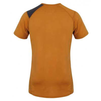 Męskie termo koszulka Husky Merino Dog brązowo-pomarańczowy, Husky