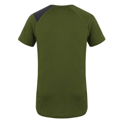 Męskie termo koszulka Husky Wilk Merino khaki, Husky