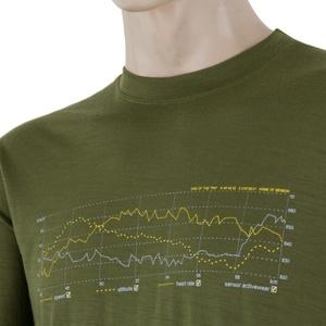 Męskie koszulka Sensor MERINO ACTIVE PT TRACK safari 17200027, Sensor