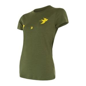Damskie koszulka Sensor MERINO ACTIVE PT SWALLOW safari 17200028, Sensor