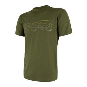 Męskie koszulka Sensor MERINO ACTIVE PT TRACK safari 17200026, Sensor