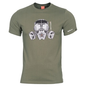 Męskie koszulka PENTAGON® Gas mask oliwkowo zielone, Pentagon