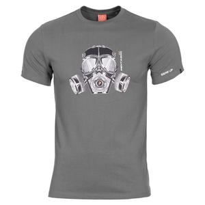 Męskie koszulka PENTAGON® Gas mask wolf grey, Pentagon