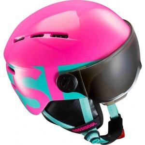 Narciarska kask Rossignol Visor Jr Dziewczyna-różowy RKGH501, Rossignol