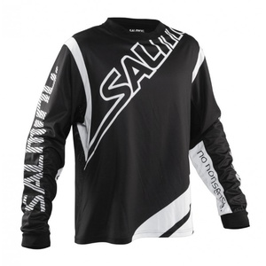 Bramkarzski bluza Salming Phoenix Goalie JSY JUNIOR Black / White, Salming