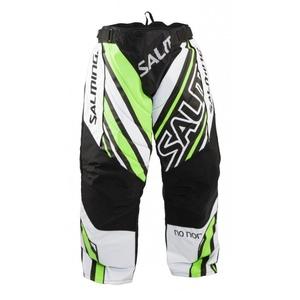 Bramkarzskie spodnie Salming Phoenix Goalie Pant SR White/GeckoGreen, Salming