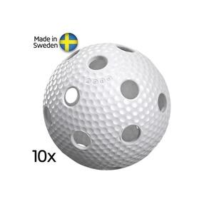 Zestaw unihokejowych piłeczek Salming Aero Ball 10-pack White, Salming