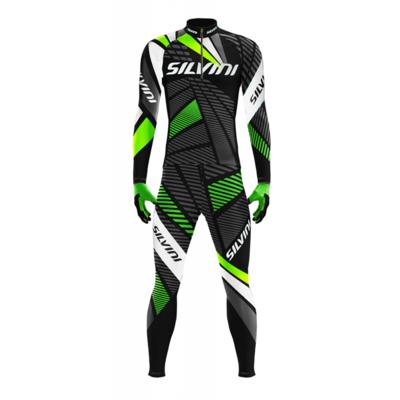 Męska biegi narciarskie wyścigowa kombinezon Silvini Scando Men RSM1511 black, Silvini