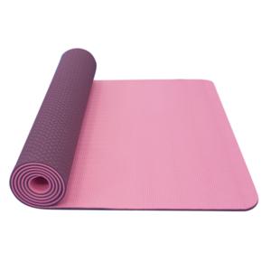 Podkładka do jogę YATE joga mat podwójna warstwa / różowy / fioletowy / materiał TPE, Yate