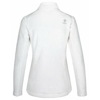 Ciepła bluza damska bez kaptura Kilpi SKATI-W biały, Kilpi
