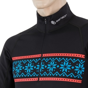 Męskie koszulka Sensor THERMO czarny / wzór 17200058, Sensor