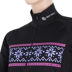 Damskie koszulka Sensor THERMO czarny / wzór 17200060, Sensor