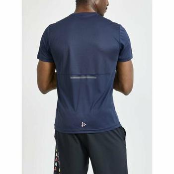 Męskie koszulka CRAFT Core Charge 1910664-396000 ciemno niebieska
